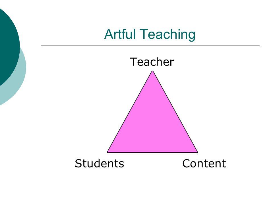 Artful Teaching Teacher Students Content
