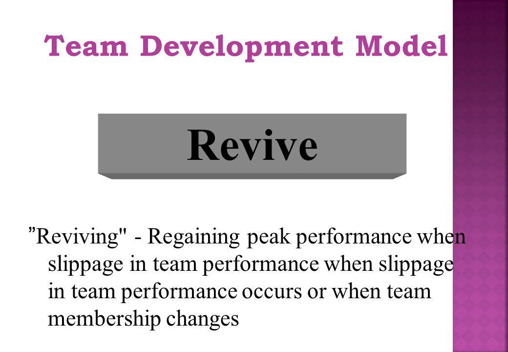 "Team Development Model Revive ""Reviving"