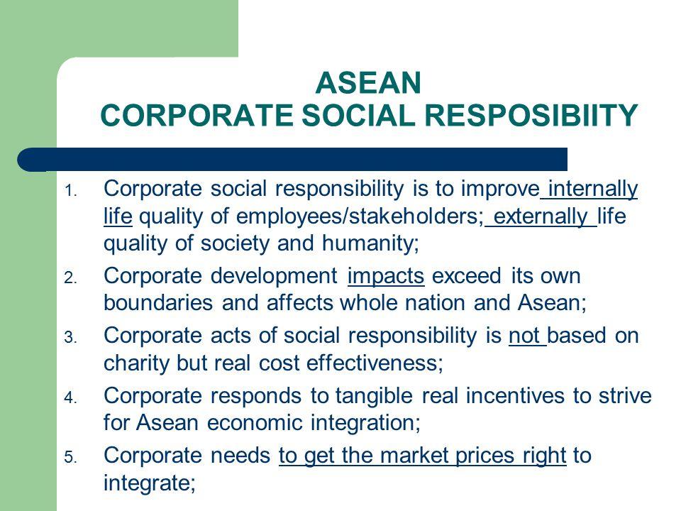 ASEAN CORPORATE SOCIAL RESPOSIBIITY 1.