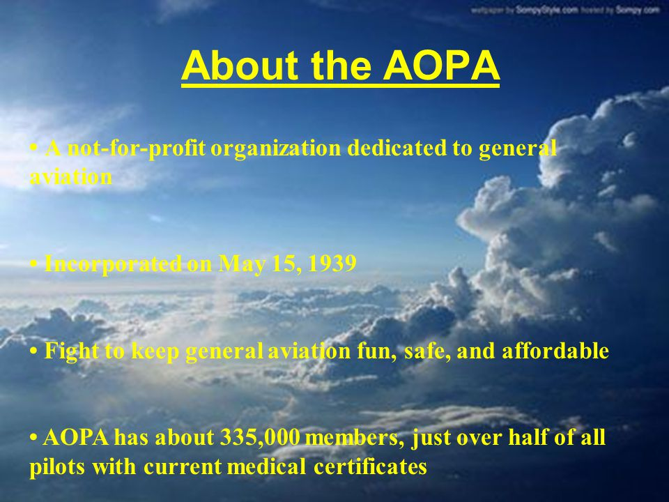 Goals for the AOPA