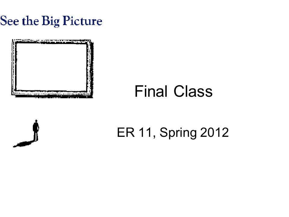 Final Class ER 11, Spring 2012
