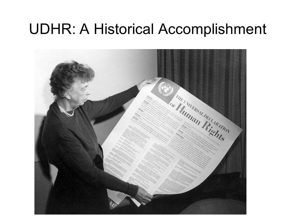 UDHR: A Historical Accomplishment
