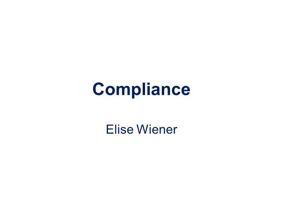 Compliance Elise Wiener
