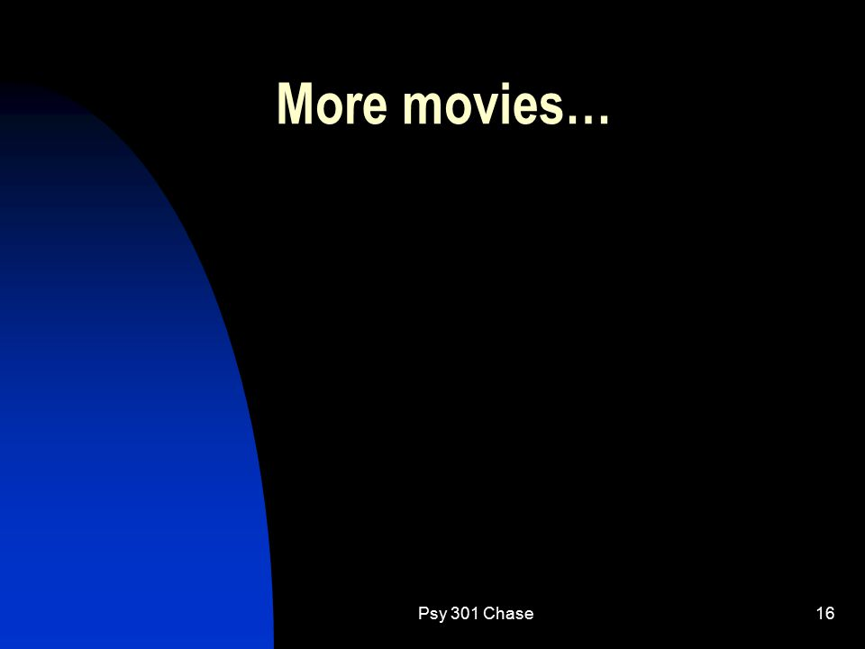 Psy 301 Chase16 More movies…
