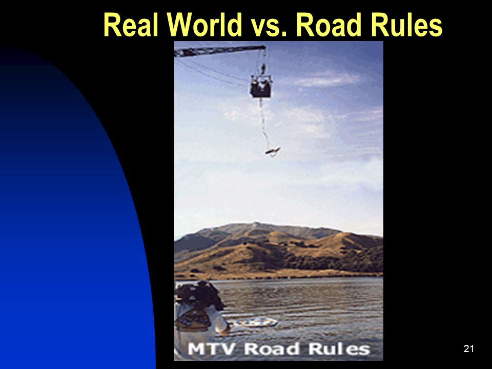 Psy 301 Chase21 Real World vs. Road Rules