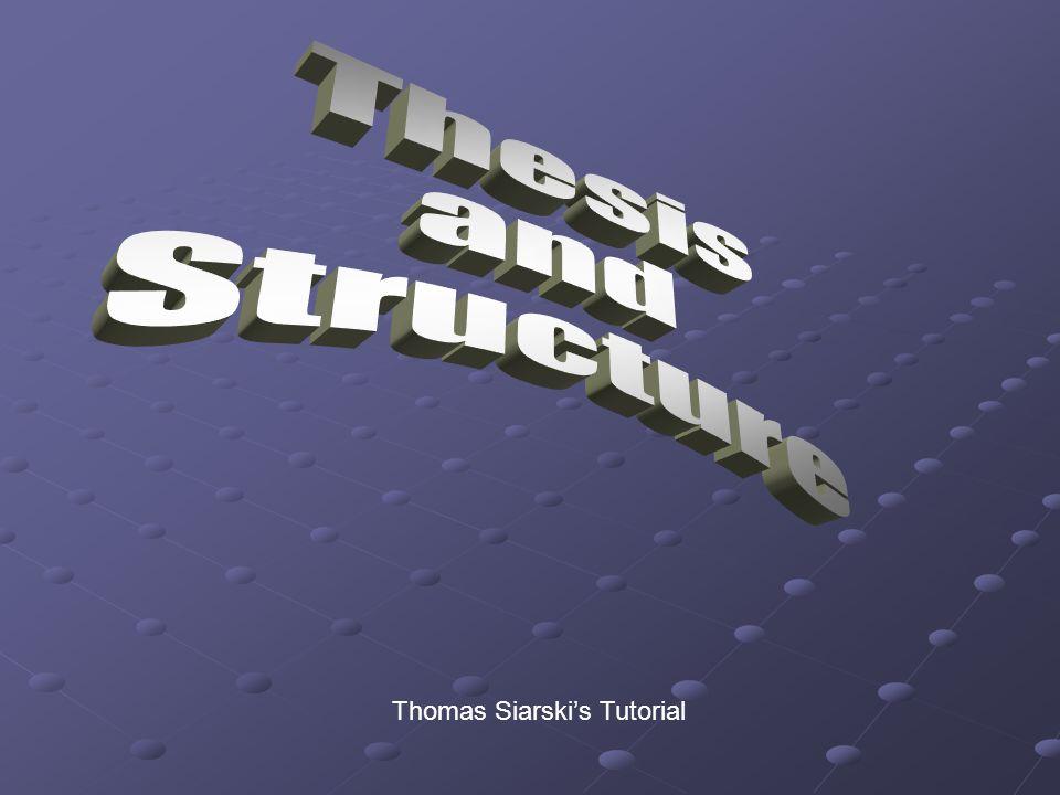 Thomas Siarski's Tutorial