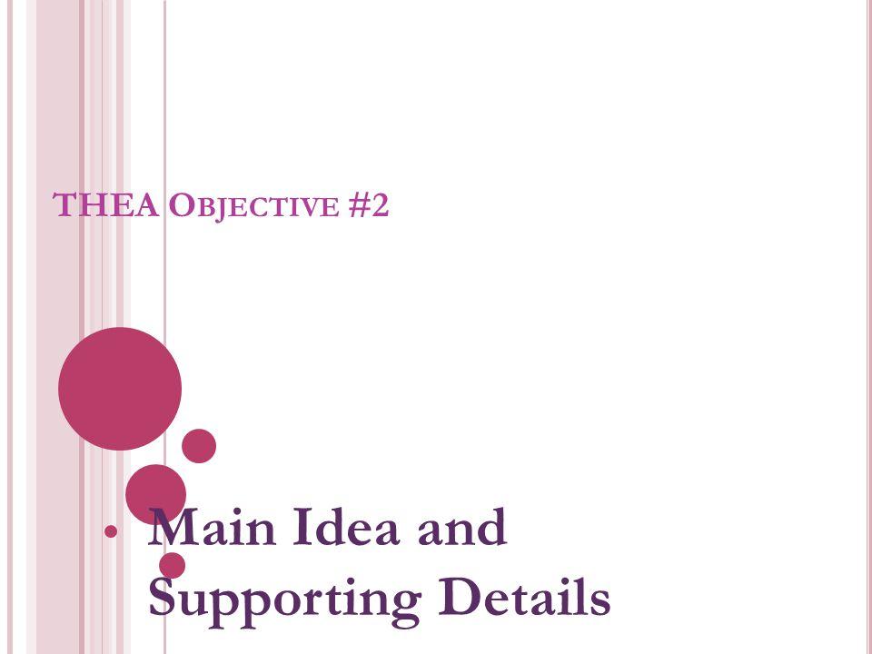 What is a Main Idea.