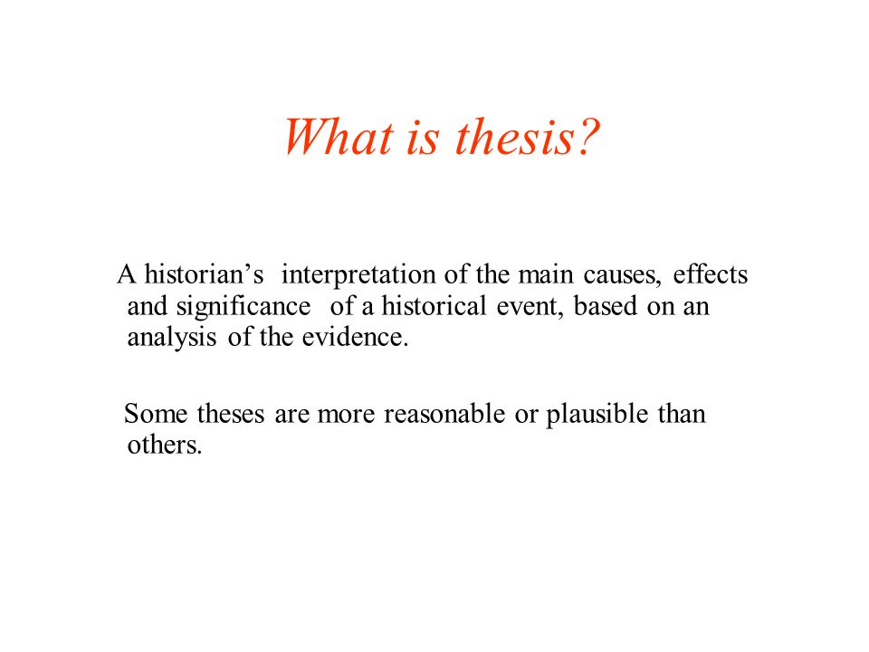 What is thesis.