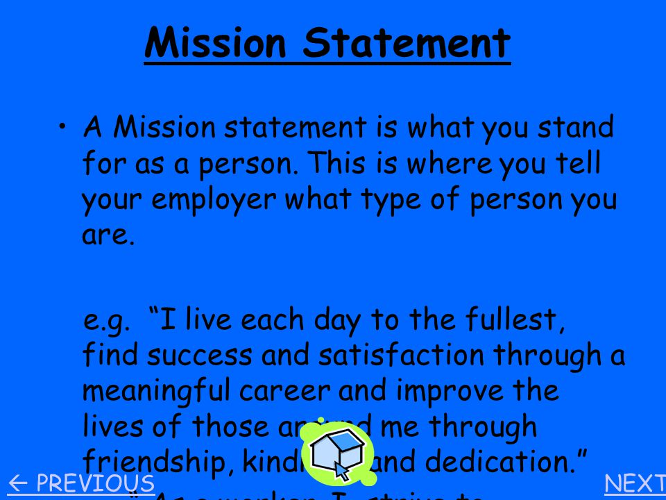 Table of Contents Mission Statement Post Secondary Education Exit Resume Thank – You Letter Summary of Coop Reflection Academic Skills Section Teamwork Skills Section Personal Management Skills Section NEXT  PREVIOUS