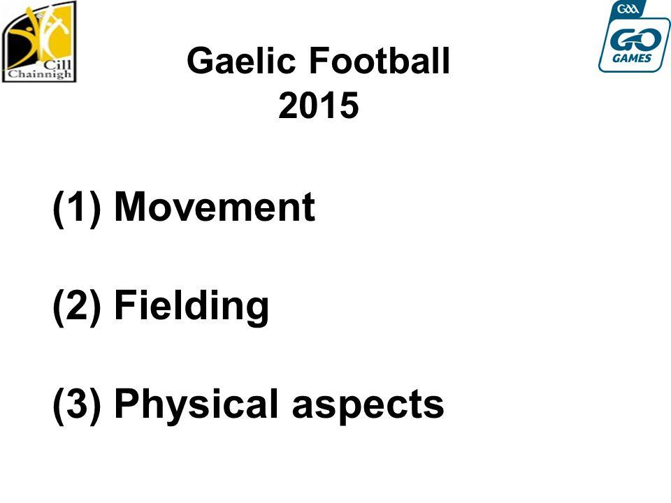 (1) Movement (2) Fielding (3) Physical aspects Gaelic Football 2015