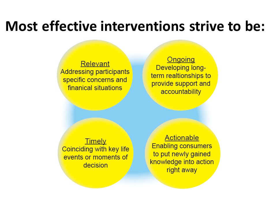 Most effective interventions strive to be: