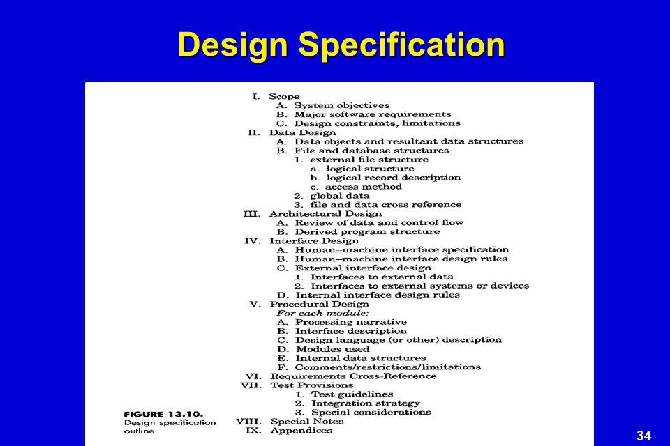34 Design Specification