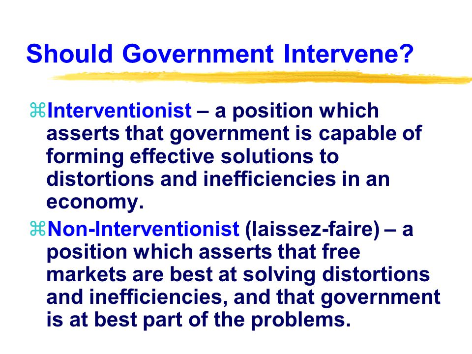 Should Government Intervene.
