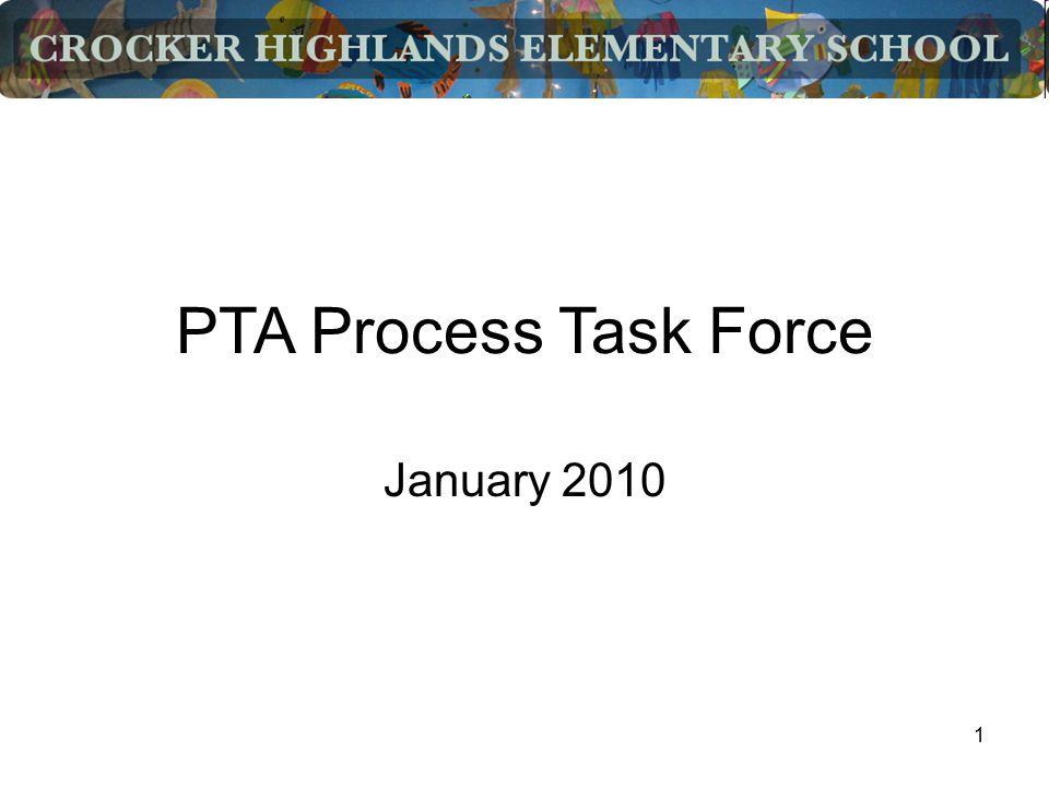 1 PTA Process Task Force January 2010