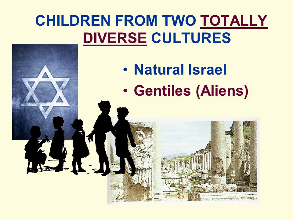 Natural Israel Gentiles (Aliens) CHILDREN FROM TWO TOTALLY DIVERSE CULTURES