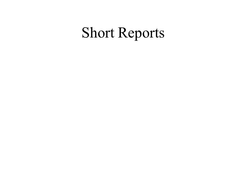 Short Reports