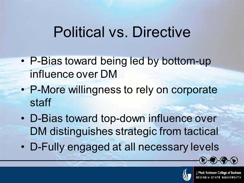 Political vs.