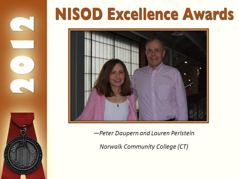 —Peter Daupern and Lauren Perlstein Norwalk Community College (CT)