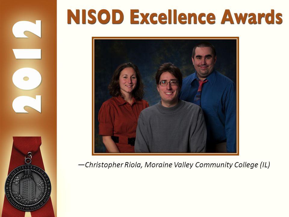 —Christopher Riola, Moraine Valley Community College (IL)