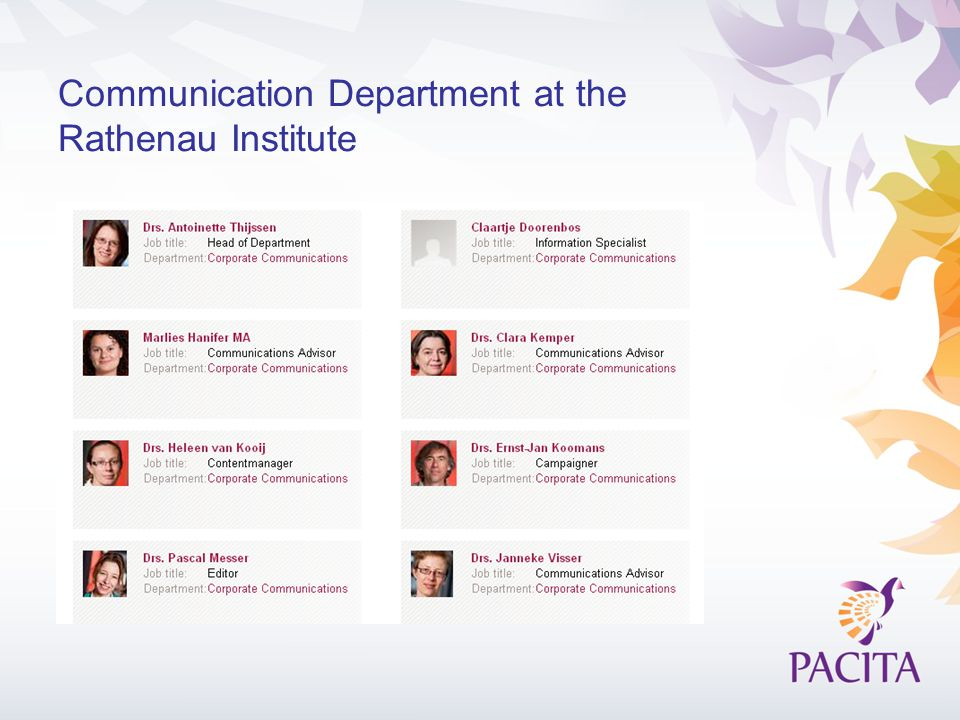 Communication Department at the Rathenau Institute