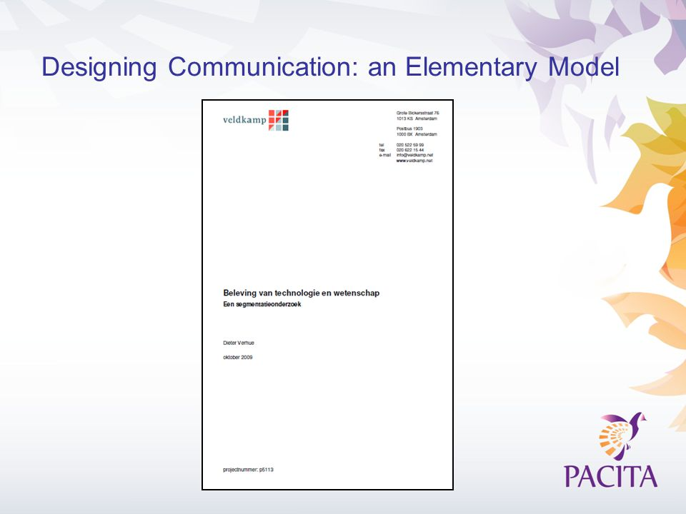 Designing Communication: an Elementary Model
