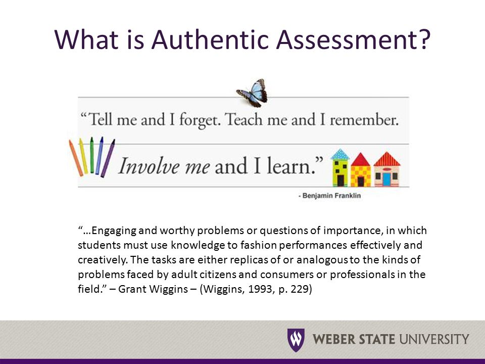 What is Authentic Assessment.
