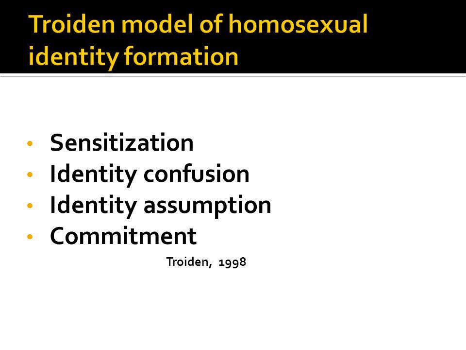 Sensitization Identity confusion Identity assumption Commitment Troiden, 1998