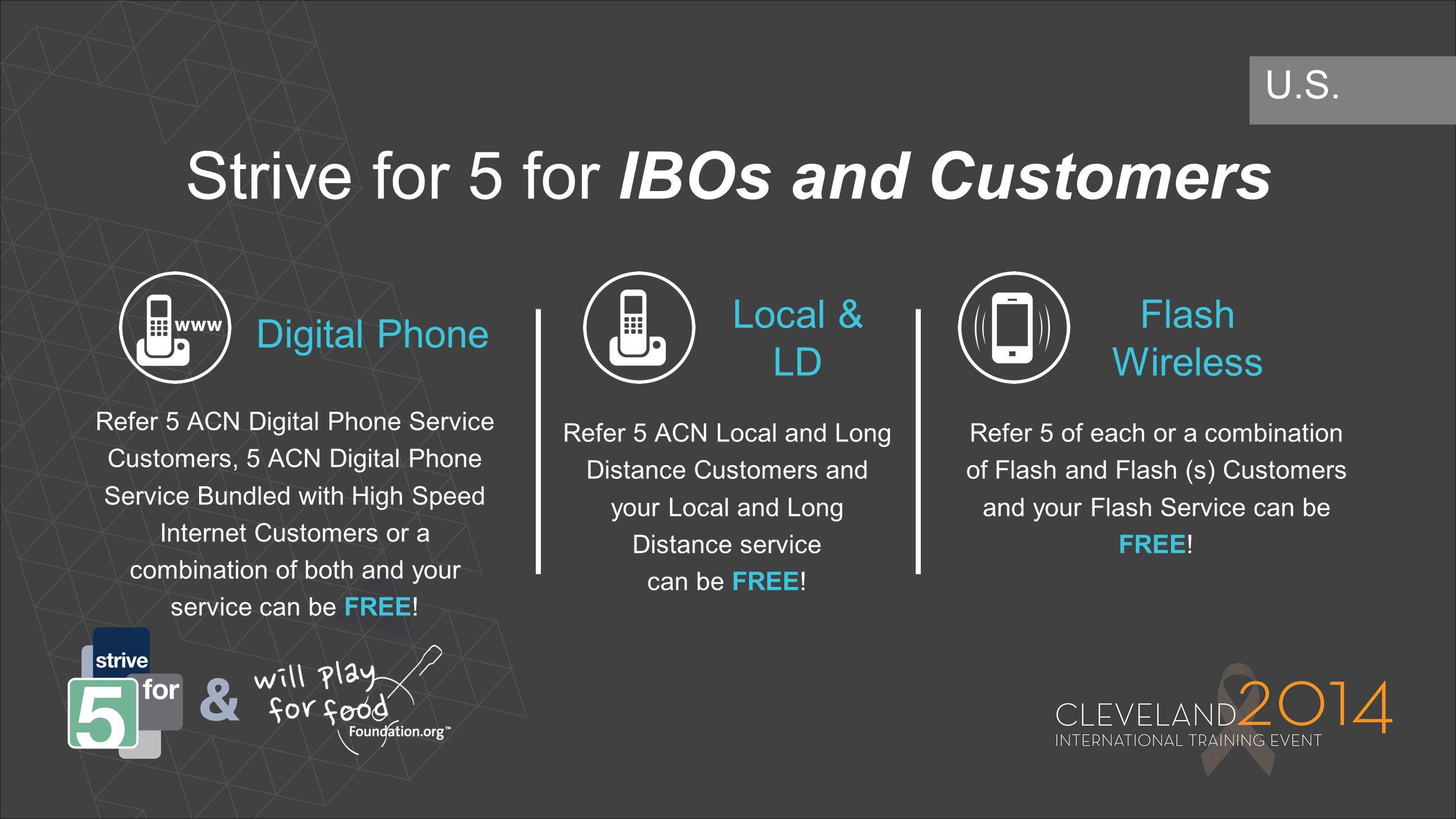 Digital Phone Local & LD Flash Wireless Refer 5 ACN Digital Phone Service Customers, 5 ACN Digital Phone Service Bundled with High Speed Internet Cust