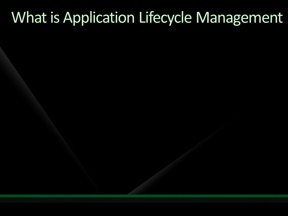 What is Application Lifecycle Management