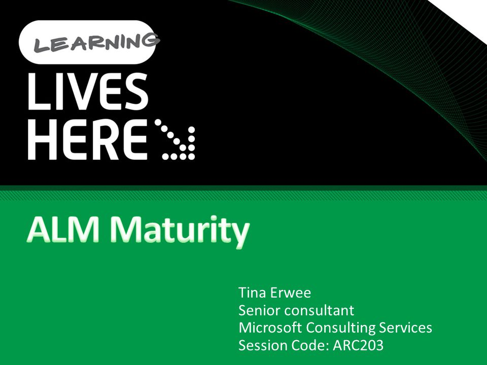 Key take-aways What is ALM and why is it important The different maturity levels What discipline areas are covered What maturity levels to strive for How mature are YOUR ALM processes?