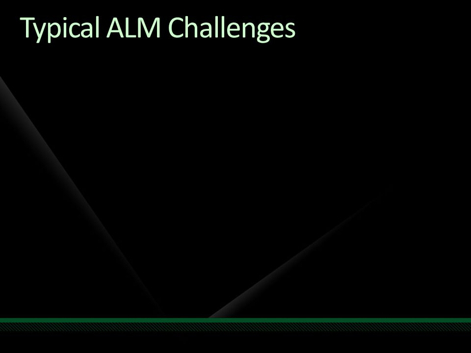 Typical ALM Challenges