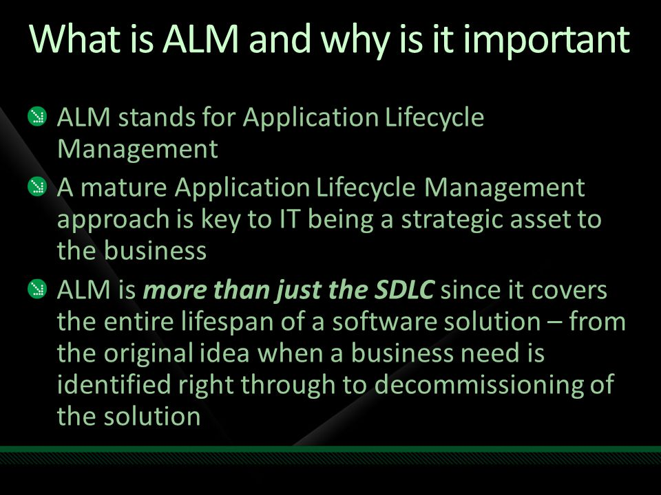 ALM as a Business Strategy