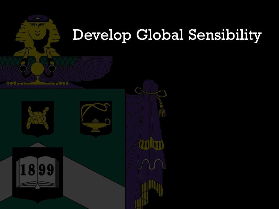 Develop Global Sensibility