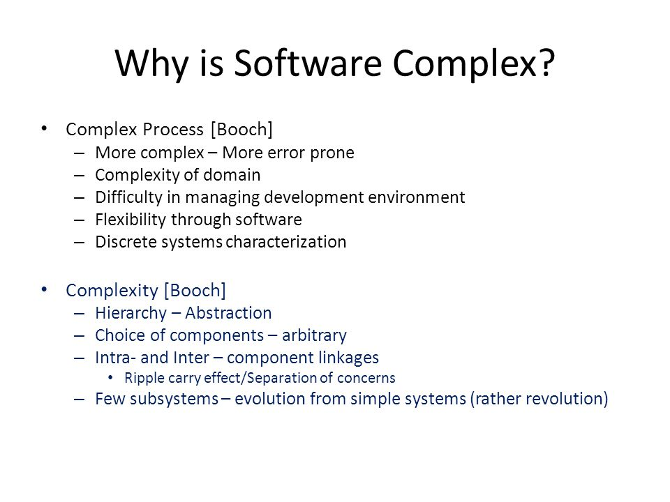 Why is Software Complex.