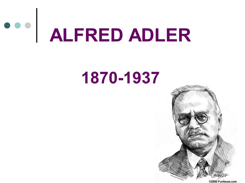 ALFRED ADLER 1870-1937