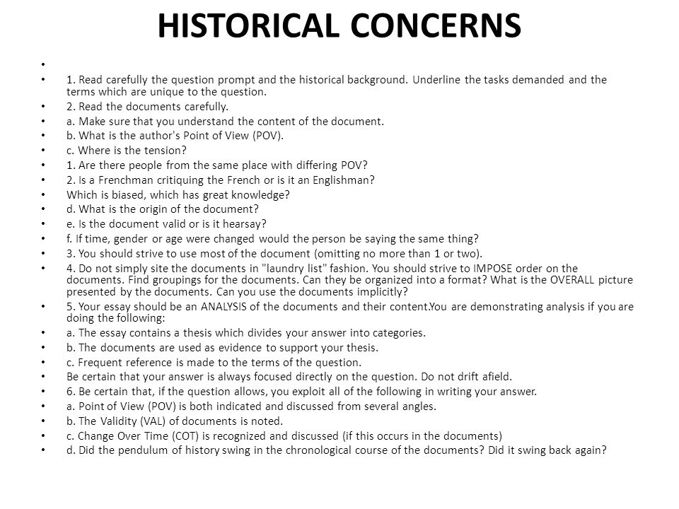 LITERARY CONCERNS 1.The essay has an adequate introduction in which the time frame is noted.