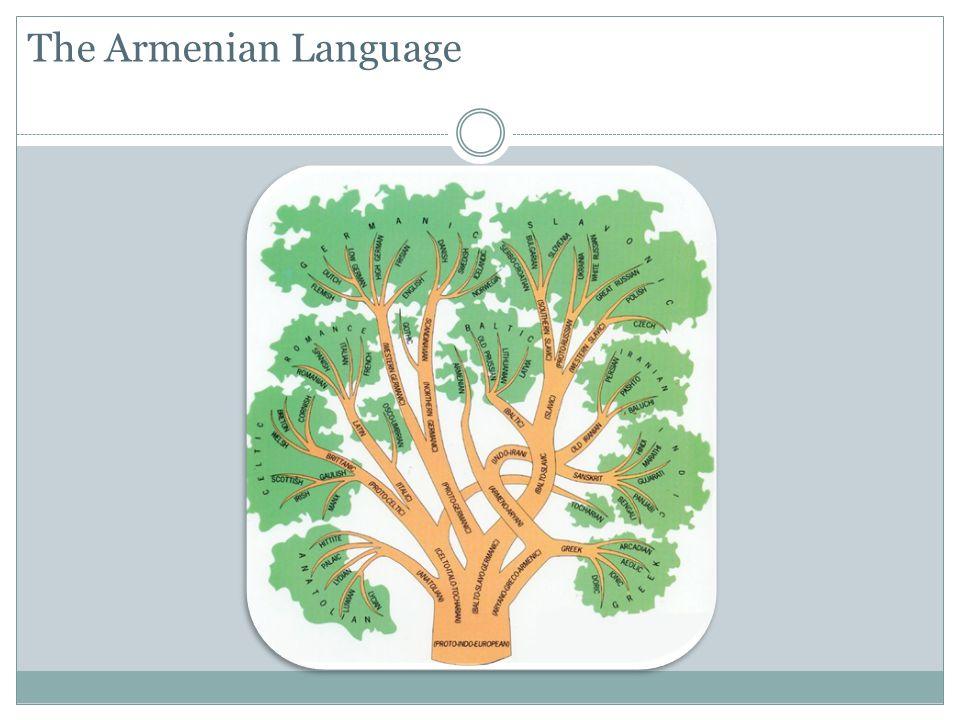 Evolution of Armenian Language Classical Armenian Western Armenian Classical Orthography Eastern Armenian Classical Orthography Reformed Orthography