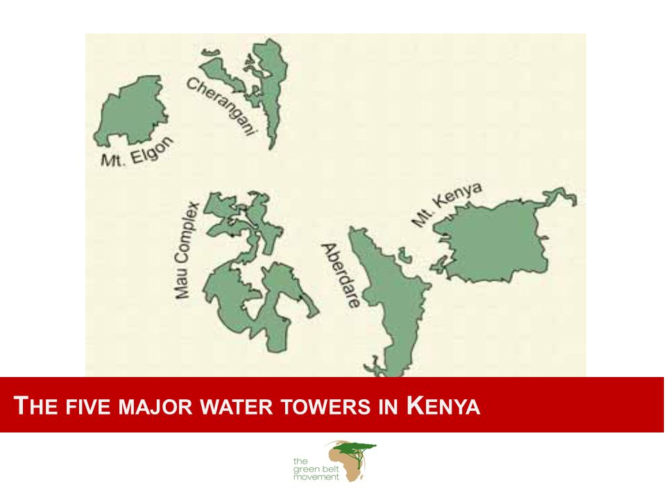 T HE FIVE MAJOR WATER TOWERS IN K ENYA