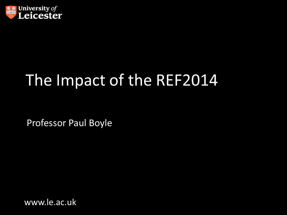 Introduction Each REF is a critical and influential milestone in a University's life –Performance dictates funding allocation and the capacity to build on existing excellence –It impacts on reputation directly and through league tables With so much at stake, it's not surprising that institutions spend huge amounts of time and effort working towards a positive outcome