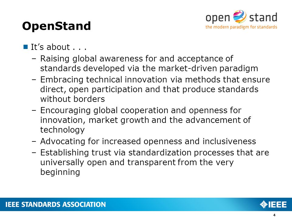 OpenStand  It's about...
