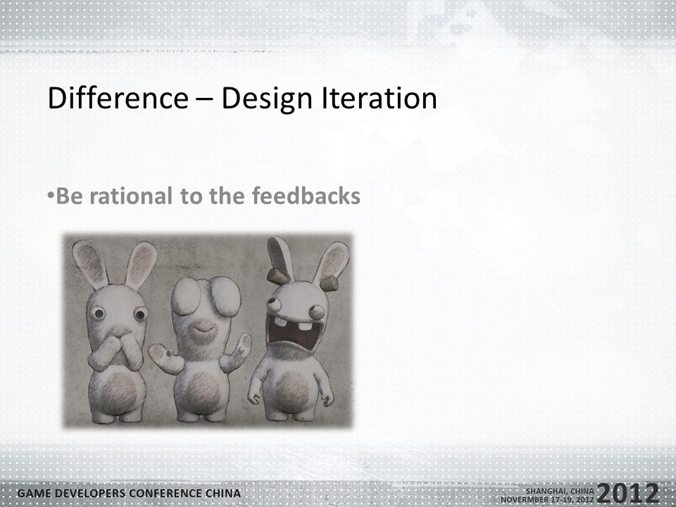 Difference – Design Iteration Be rational to the feedbacks