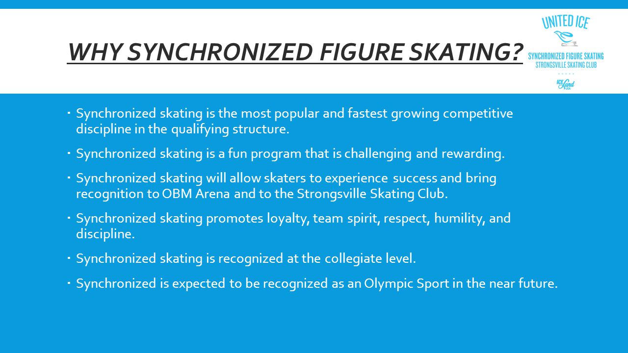WHY SYNCHRONIZED FIGURE SKATING.