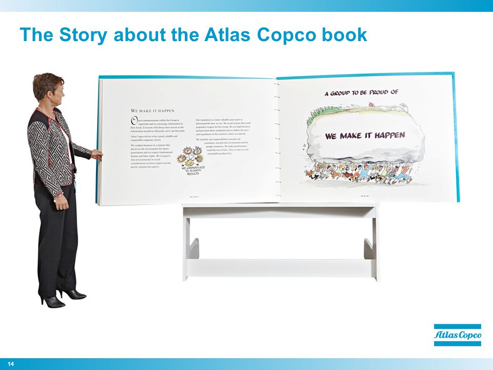 The Story about the Atlas Copco book 14