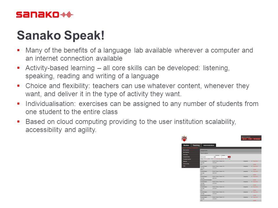 Sanako Speak.