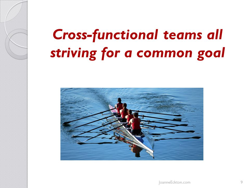Cross-functional teams all striving for a common goal JoanneEckton.com9