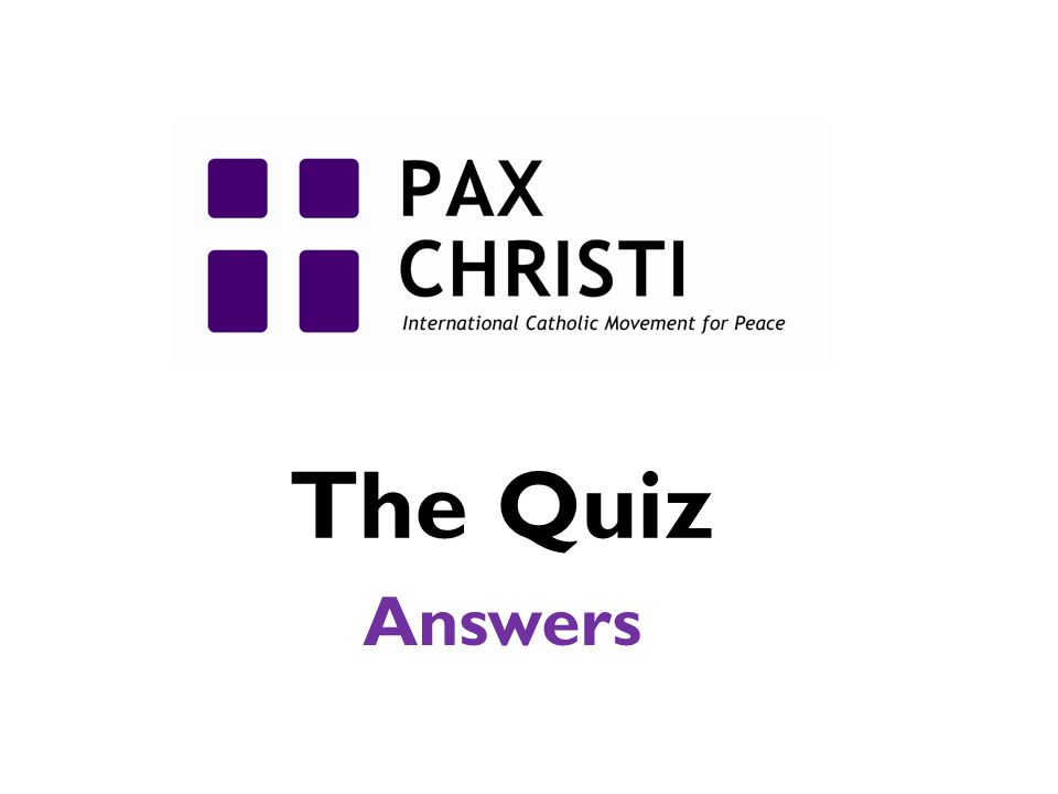 The Quiz Answers