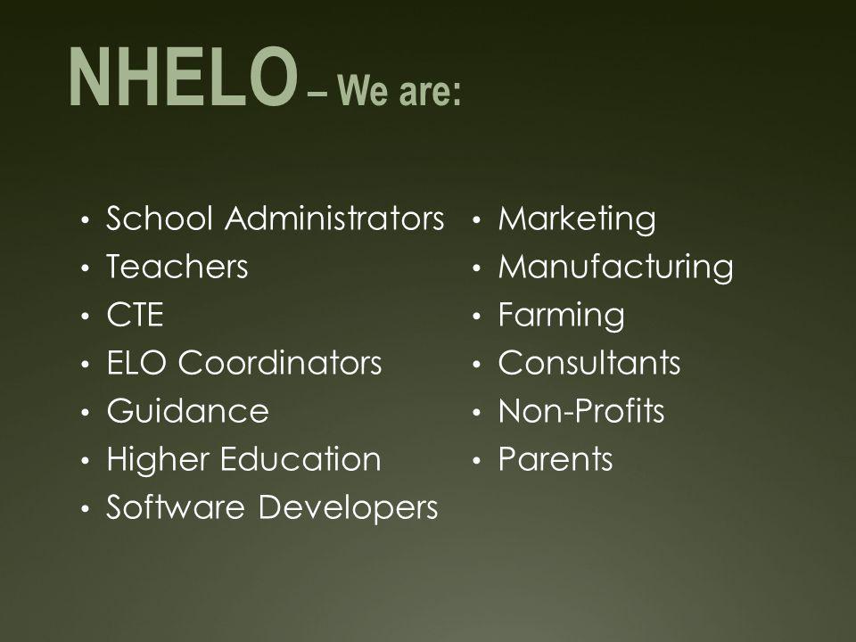 Proposed Stakeholder based NHELO Steering Committee