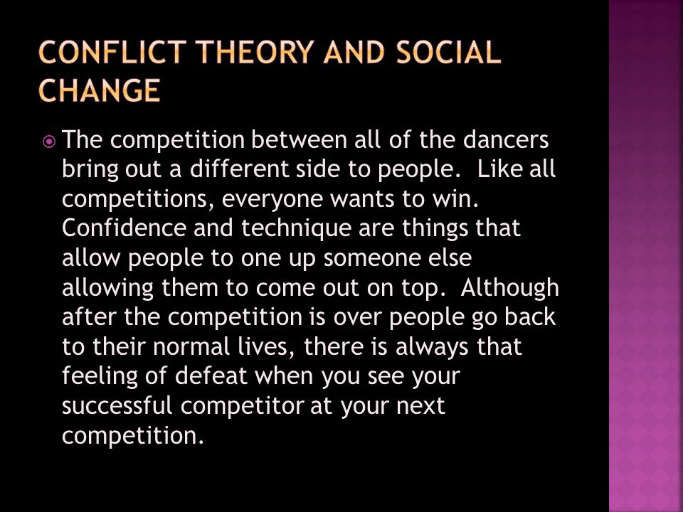 Comparing a dance competition to what people think a real competitive sport is.