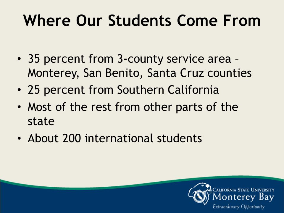 57% of our undergraduates are first-generation college students We welcome students of many ethnicities