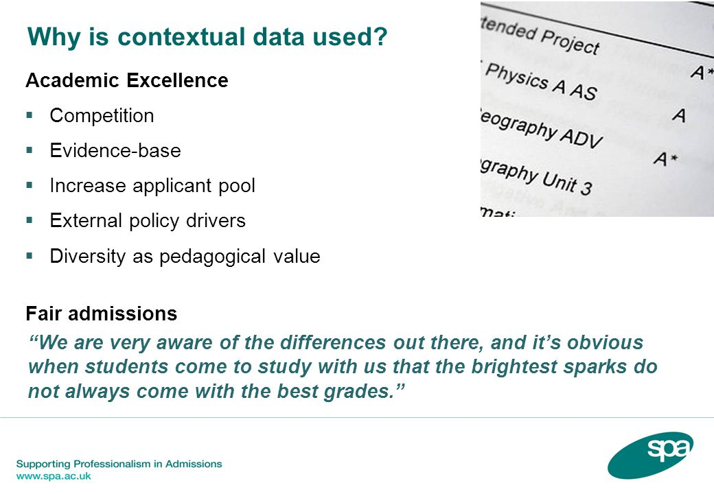 Why is contextual data used.